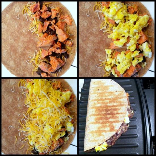 salmon breakfast quesadilla 2