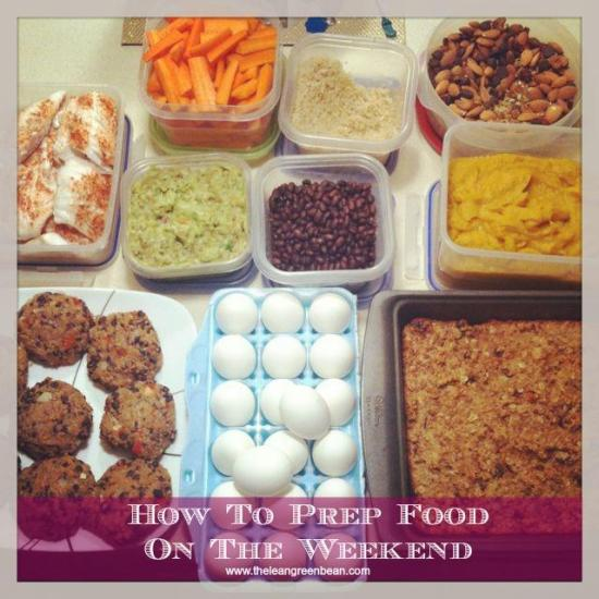 How to prep foods on the weekend