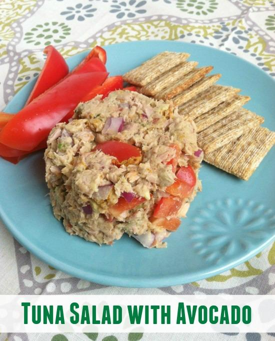 This tuna salad is protein packed and adding avocado gives it a dose of heart-healthy fats as well! The perfect lunch!