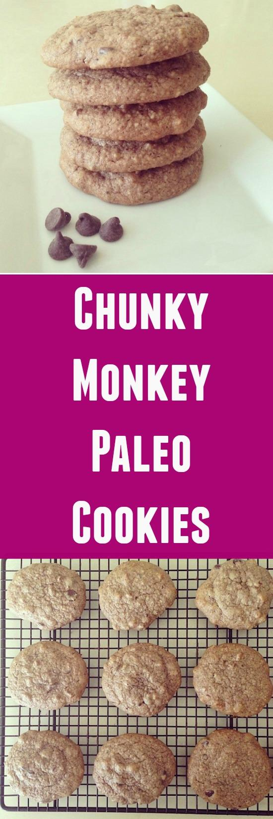 These Chunky Monkey Paleo Cookies are packed with delicious mix-ins and the perfect evening treat!