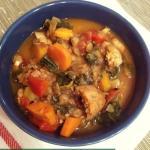Spicy Sausage Lentil & Kale Soup
