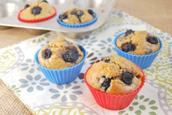 A non-traditional, gluten-free blueberry muffin that's not overly sweet but still packed with flavor!