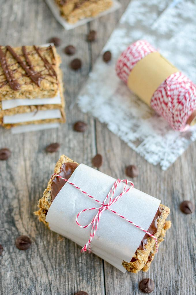 These No-Bake Protein Bars make a great holiday gift for gym friends