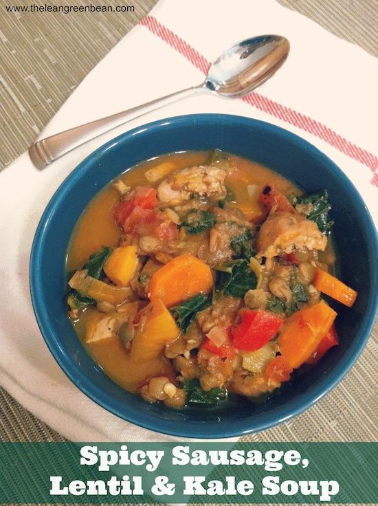 sausage lentil & kale soup