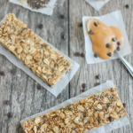 No Bake Granola Bars made with peanut butter and seeds