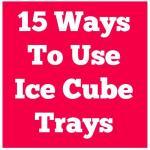 15 Ways To Use Ice Cube Trays