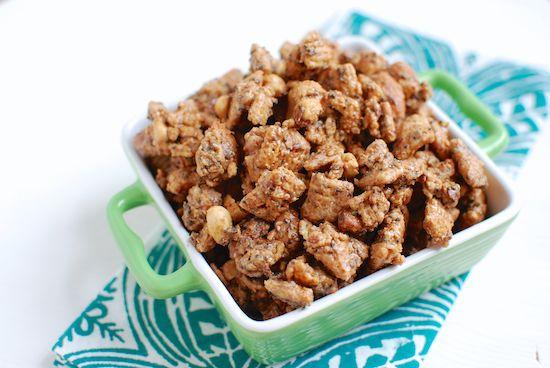 Your favorite childhood snack gets a makeover! This Healthier Puppy Chow is healthy enough to eat as a snack but sweet enough to pass as dessert!