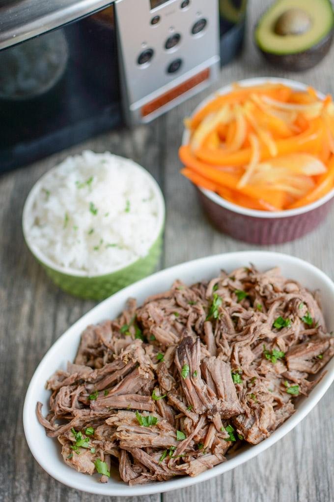 Slow Cooker Shredded Beef, similar to Chipotle Barbacoa