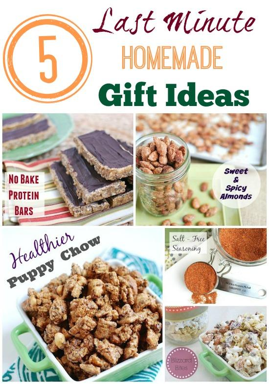 Need a last minute gift idea? Here are 5 healthy, homemade gift ideas that can be made in 30 minutes or less. Bonus - Several of them are no bake!