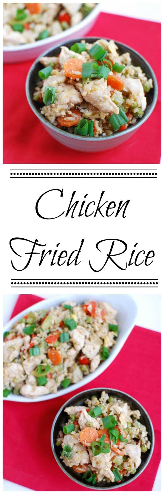 This Healthy Chicken Fried Rice is perfect for nights when you want a quick, easy dinner that's both simple and nutritious!