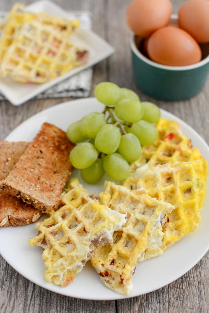Ready in one minute and easy to customize, after trying these Egg Waffles you'll never want to cook eggs in a pan again! A quick and easy, healthy breakfast!