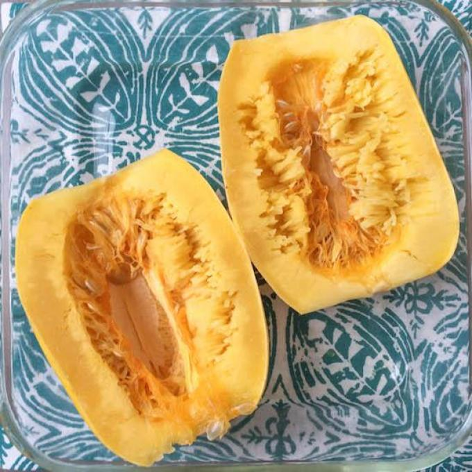 spaghetti squash cooked in the microwave