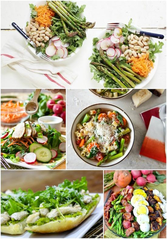 Easy lunch ideas using spring vegetables!