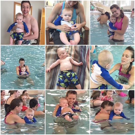 six months baby swimming