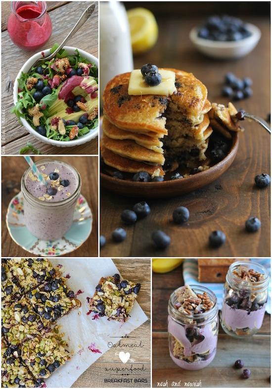 A Week of Breakfast Ideas using bluberries!