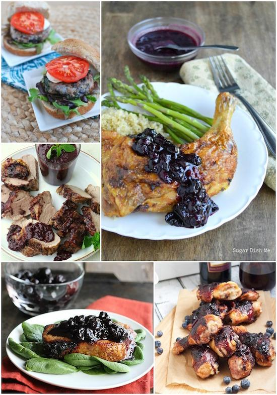 A Week of Dinner Ideas made with blueberries!