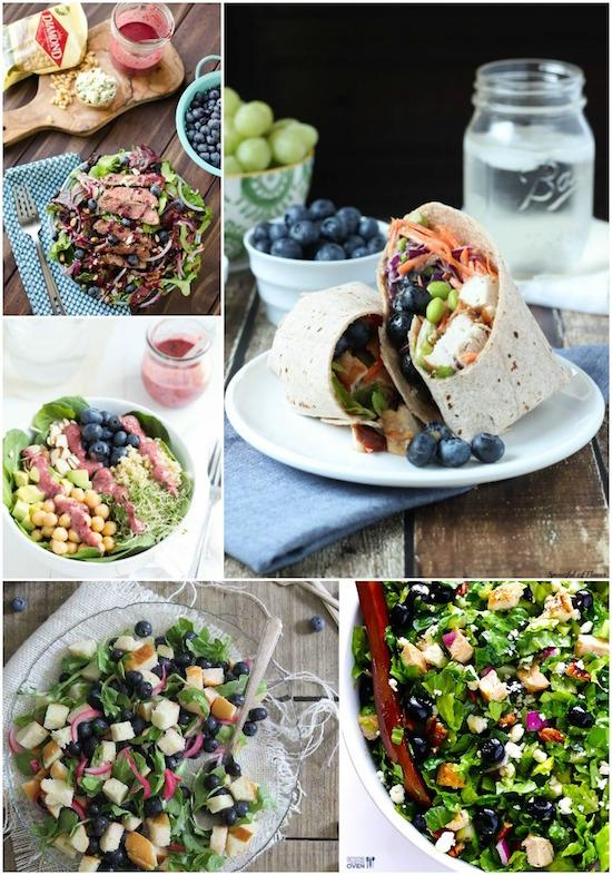 A Week of Lunch Ideas featuring blueberries!