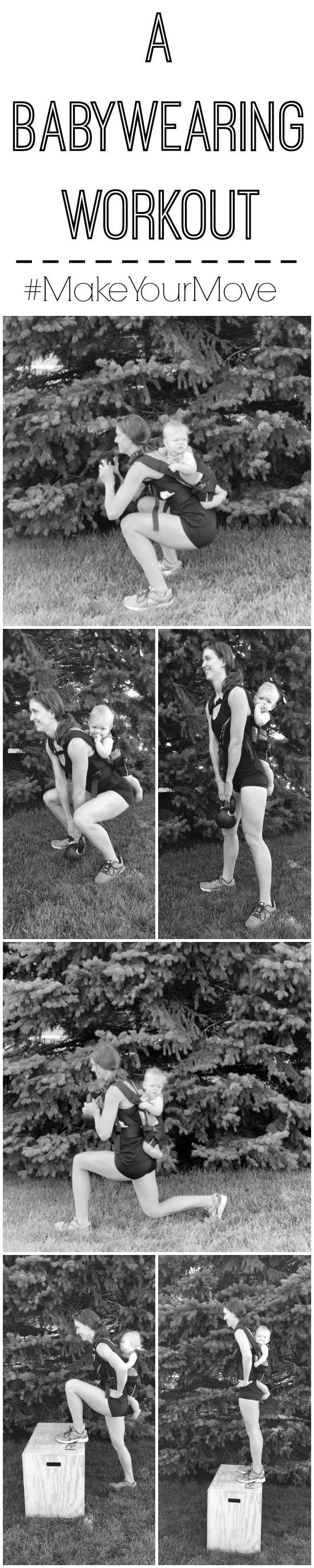 A babywearing workout that targets the lower body and can be done at home while wearing your baby.