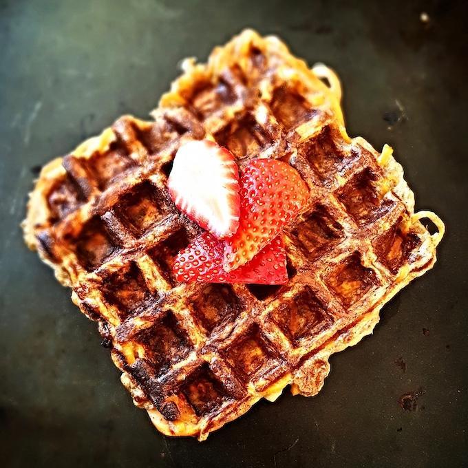 cinnamon apple waffle