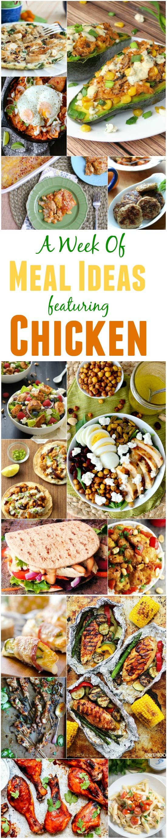 A Week of Meal Ideas Featuring Chicken