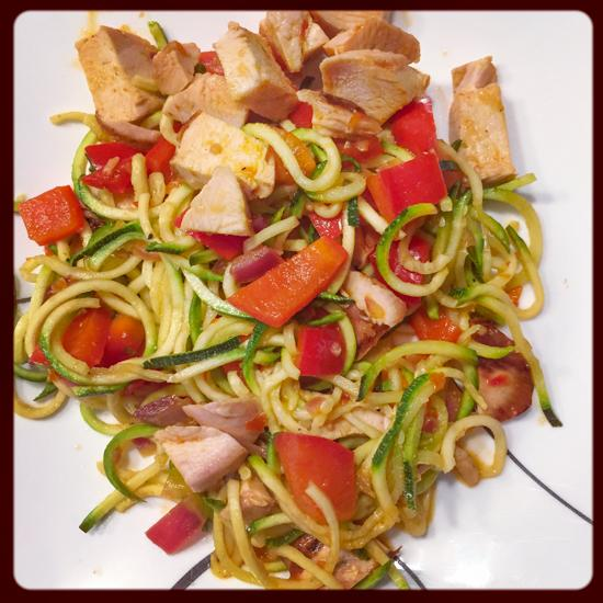 Sweet and Spicy Zoodles