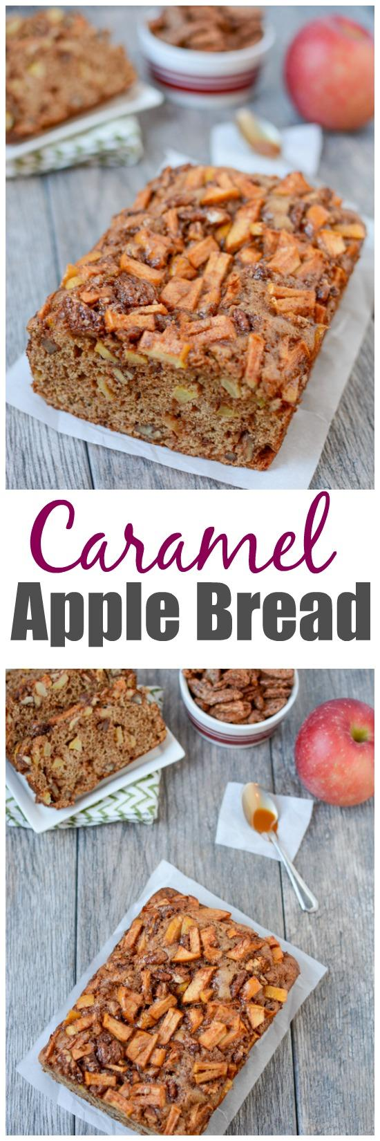 Studded with sweet cinnamon apples and pecans, this Caramel Apple Bread makes the perfect snack. Plus 5 more delicious ways to eat apples!
