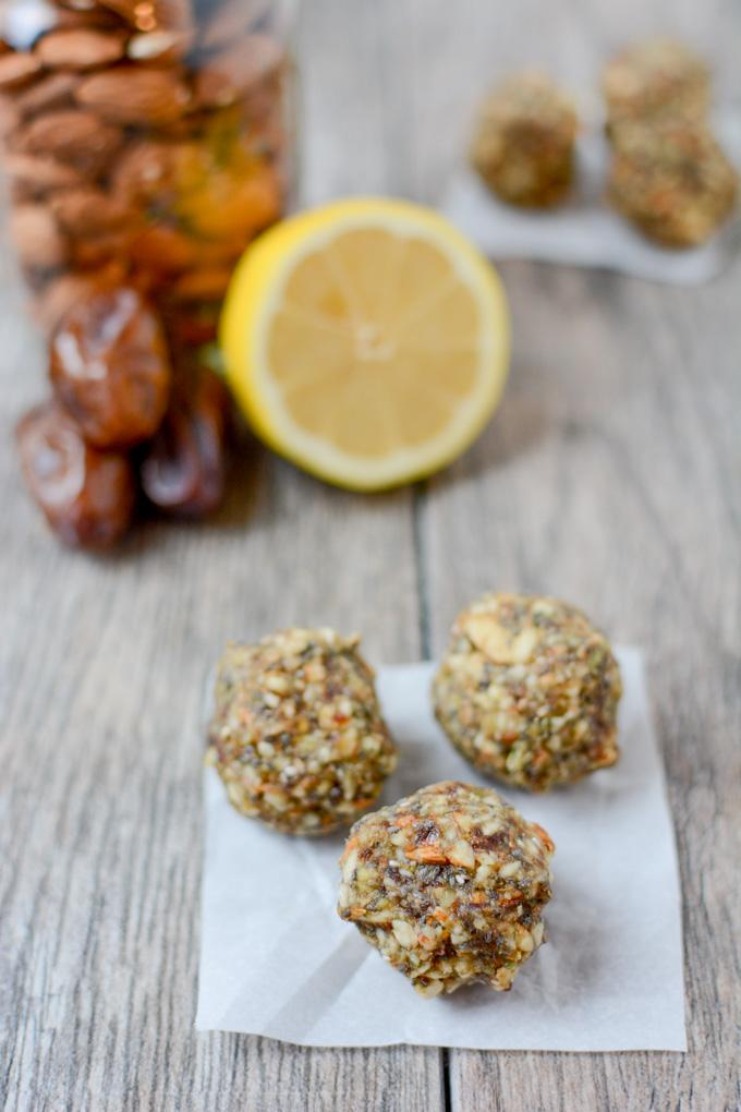 Bursting with citrus flavor, these Lemon Energy balls make the perfect snack. Made with just 5 ingredients, they're gluten-free, paleo-friendly and perfect for stashing in the fridge or freezer!