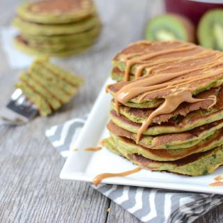Green Smoothie Pancakes packed with healthy ingredients for a delicious breakfast