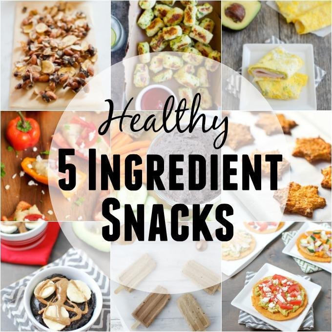 These Healthy 5 Ingredient Snacks can be made quickly to power you through the afternoon slump. Plus several simple snacks that don't need a recipe!