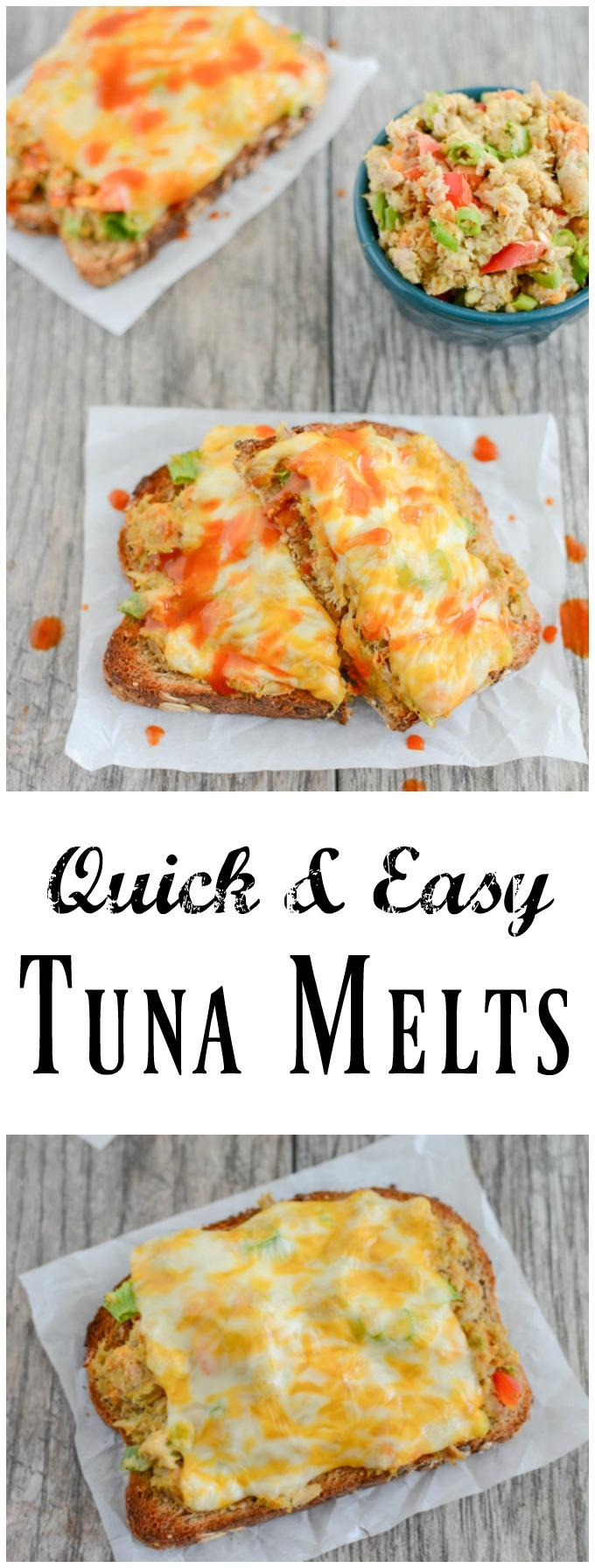 This recipe for Easy Tuna Melts comes together quickly and is great for lunch! Try it to help add more seafood to your diet!