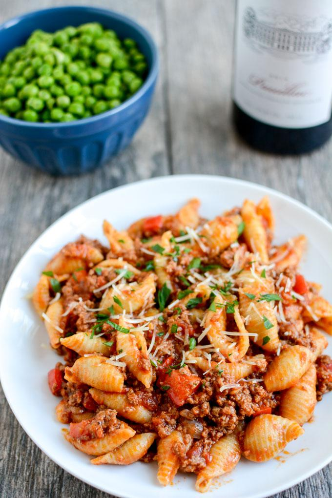 This Instant Pot Pasta with Meat Sauce is a simple, healthy dinner recipe the whole family will love!