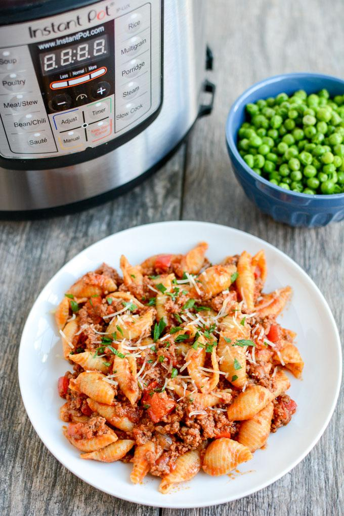 Instant Pot Pasta with Meat Sauce 2