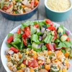One Pot Orzo Pasta Salad with Chicken Sausage