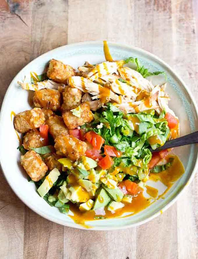 bbq tater tot chicken salad