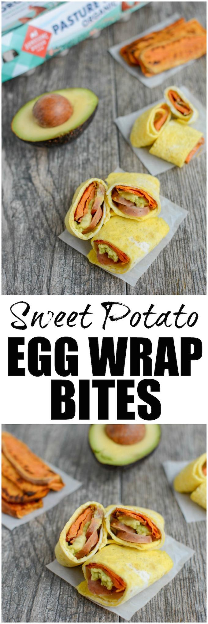 These Sweet Potato Egg Wrap Bites make an easy, healthy breakfast, lunch or snack. They're kid-friendly and can be prepped ahead of time so they come together quickly!