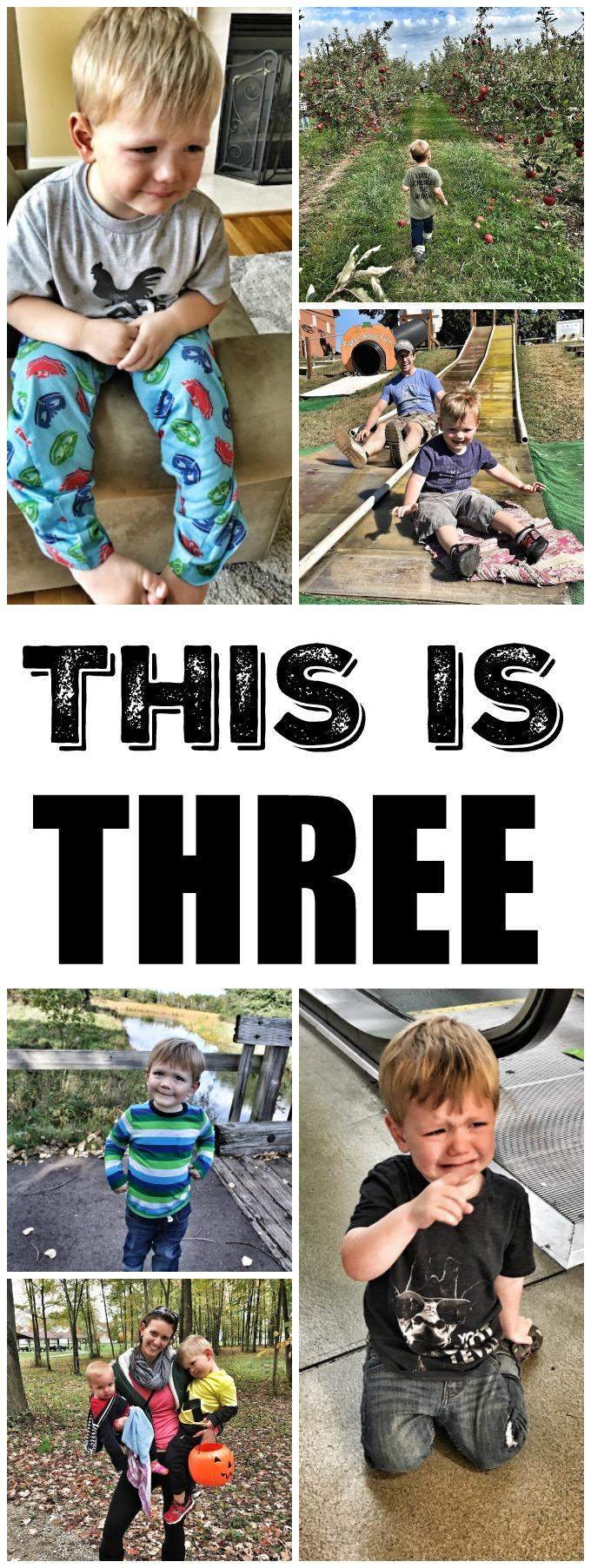 This is three. Three is hard, frustrating and amazing all rolled into one.