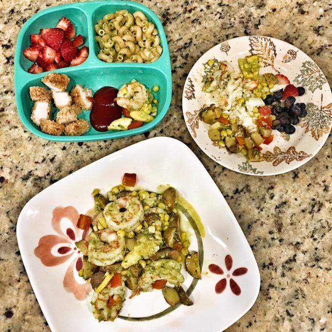 adult and toddler meal
