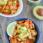 Mexican Chicken and Veggie Noodle Bowls