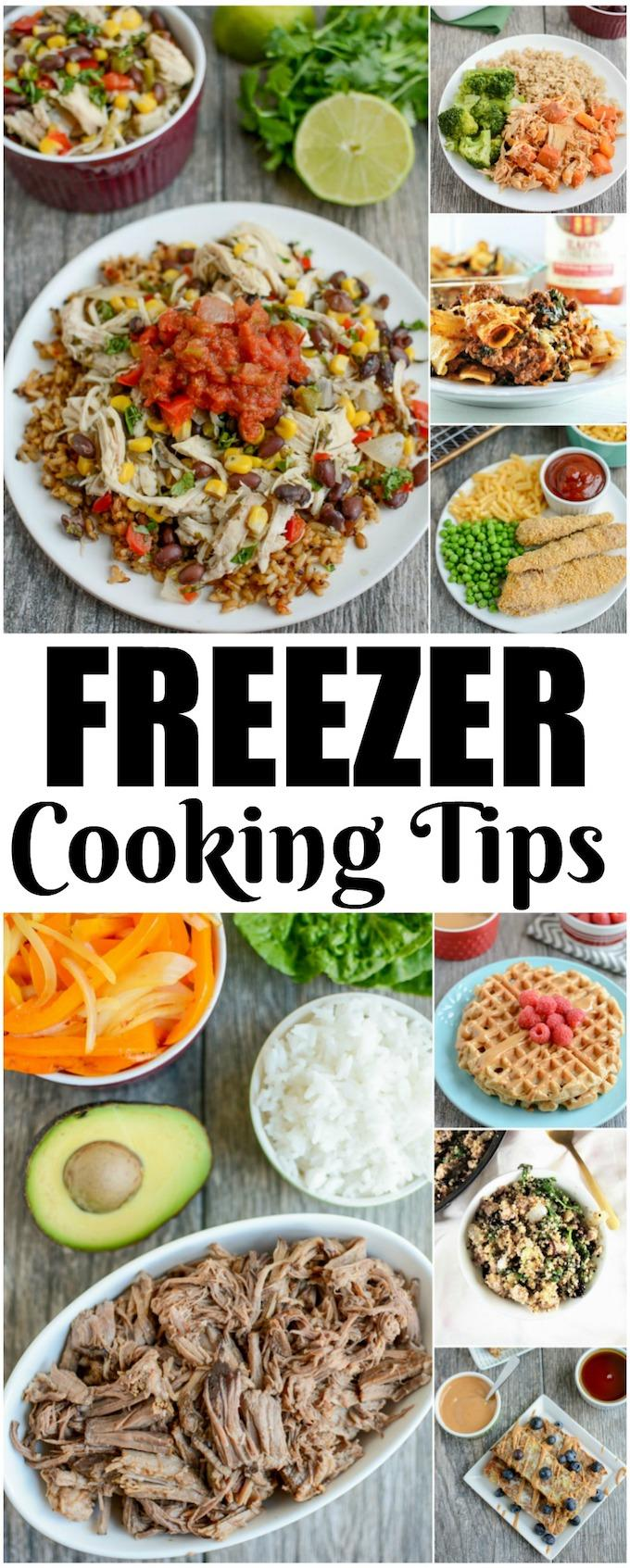 Looking for some Freezer Cooking Tips? These simple ideas from a Registered Dietitian will teach you how to make freezer cooking work for you by saving time and reducing stress during a busy week.