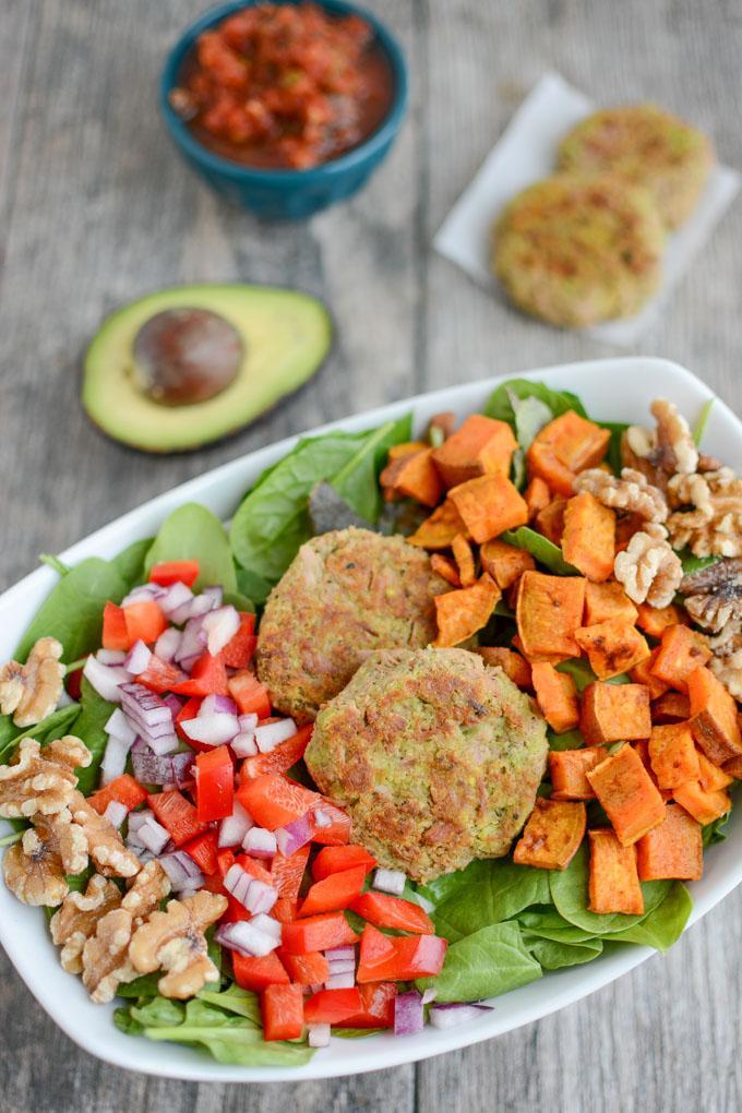 Tuna Cake Salad