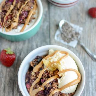 Healthy Fruit Crisp that can be made in the slow cooker or oven.