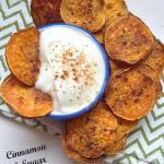 cinnamon and sugar sweet potato chips