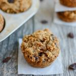 Cinnamon Raisin Sweet Potato Muffins