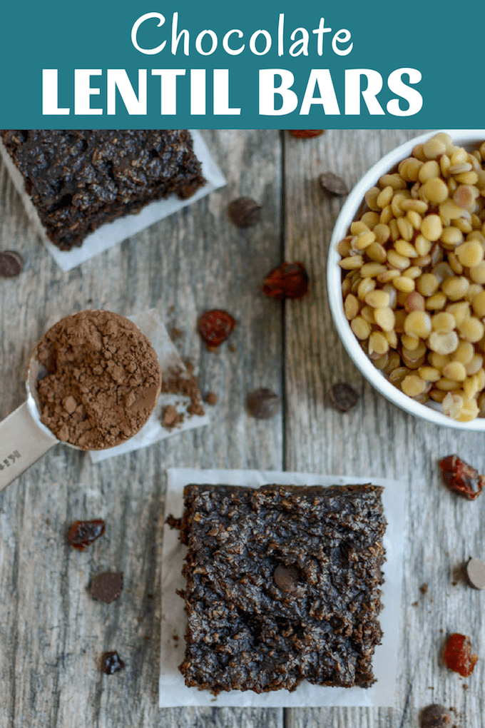 The Chocolate Lentil Bars are a healthy, kid-friendly snack made with just a few simple ingredients. They're gluten-free, nut-free and dairy-free, perfect for school lunches!