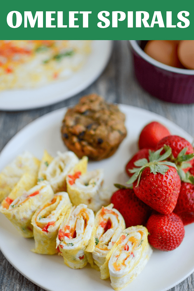 These Omelet Spirals are a fun, kid-friendly twist on egg wraps. Add your favorite mix-ins and whip up a batch in just a few minutes. Perfect for school lunches, breakfast and snack time!