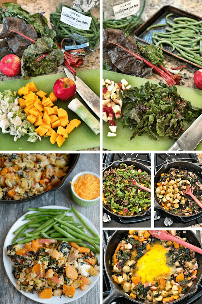 Fall Veggie Hash process shots