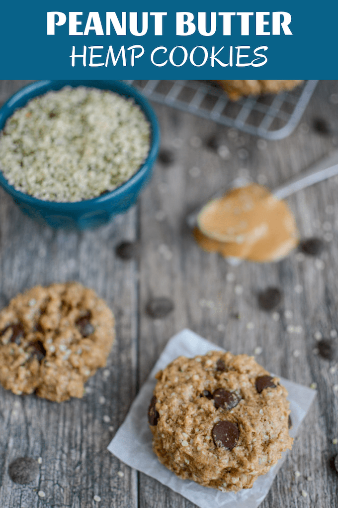 These Peanut Butter Hemp Cookies are made with just six ingredients and make a perfect protein-packed snack or dessert. Plus they're kid-friendly!