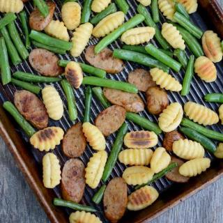 Sheet Pan Gnocchi with Sausage and Green Beans