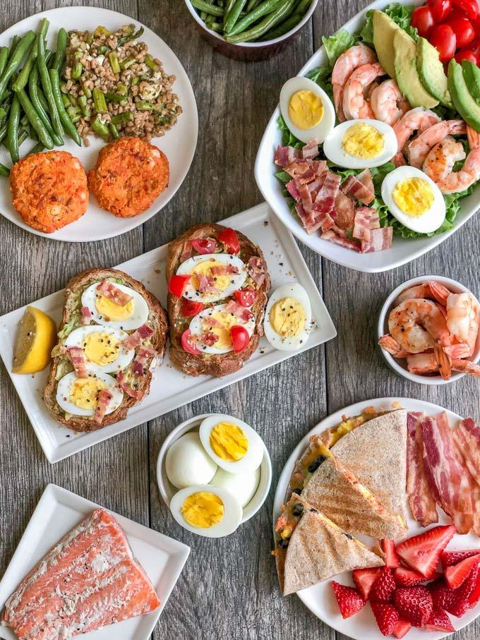 These easy egg recipes are perfect for lunch or dinner. You can add salmon to many of the recipes for an extra dose of omegas and heart healthy fats.