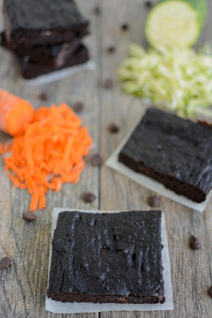 Zucchini Carrot Brownies